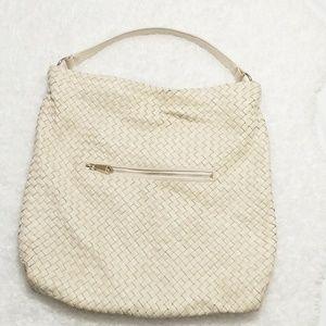 Christopher Kon Woven Lambskin Shoulder Bag